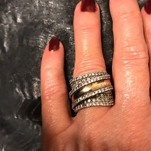 Sterling Silver and 14K gold ring